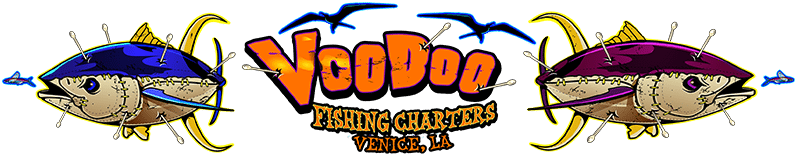 Louisiana Deep Sea Offshore Tuna Fishing Charters & Lodging in Venice LA – Red Fish Rod n Reel Charter with a New Orleans VooDoo Charter Retina Logo